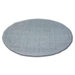Koberec kruh SHAGGY MICRO stříbro