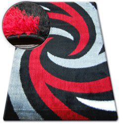 Koberec SHAGGY VERONA B058 černá/červená
