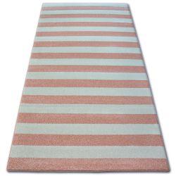 Koberec SKETCH - F758 růžový/krém - pásky