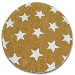 Koberec SKETCH kruh - FA68 zlato/krém - Hvězda