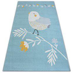 Koberec PASTEL 18404/032 - pták modrý