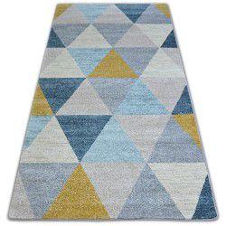 Koberec NORDIC trojúhelníky Šedá/krém G4580