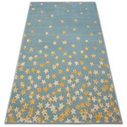 Koberec PASTEL 18408/032 - hvězda tyrkysov zlato krém