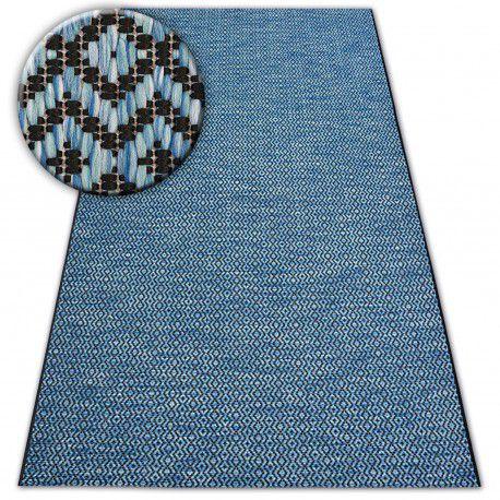 Koberec SISAL LOFT 21144 modrý/černý/stříbrný