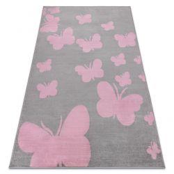 Koberec BCF ANNA Butterfly 2650 Motýli šedá / růžový