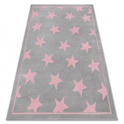 Koberec BCF ANNA Stars 3105 hvězdy šedá / růžový