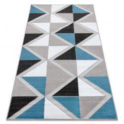 Koberec BCF ANNA Trigonal 2964 trojúhelníky modrý