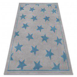 Koberec BCF ANNA Stars 3105 hvězdy šedá / modrý