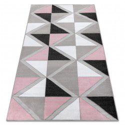 Koberec BCF ANNA Trigonal 2964 trojúhelníky růžový
