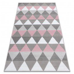 Koberec BCF ANNA Triangles 2965 trojúhelníky růžový