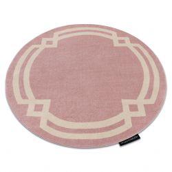 Koberec HAMPTON Lux kruh růžový