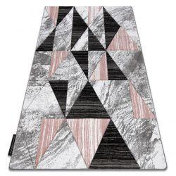Koberec ALTER Nano trojúhelníky růžový