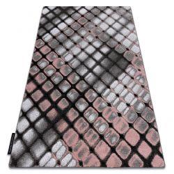 Koberec INTERO REFLEX 3D laťková mříž růžový