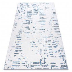 Koberec ACRYLOVY DIZAYN 8840 slonová kost / modrý