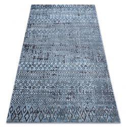 Koberec Structural SIERRA G6042 ploché tkané modrý - geometrický, etnický