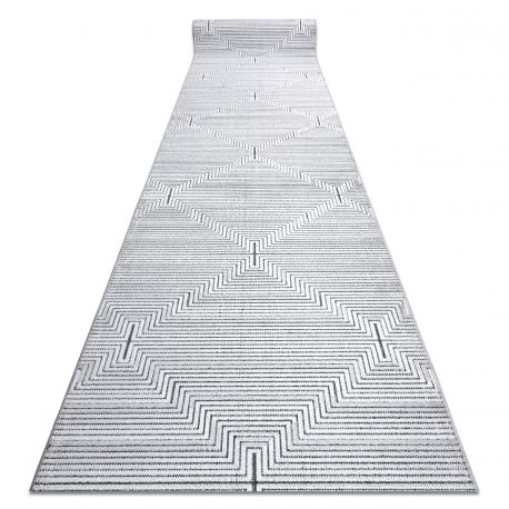 Béhoun Structural SIERRA G5018 ploché tkané šedá - proužky, diamanty