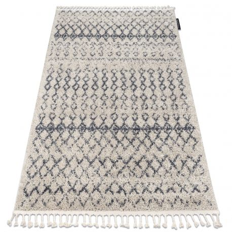 Koberec BERBER AGADIR G0522 krém / šedá Třepení berber maročtí shaggy střapatý střapatý