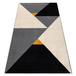 Koberec SCANDI 18464672 - Trojúhelníky geometrický šedá krém černý
