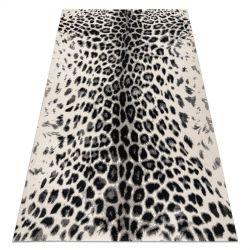 Koberec GNAB 60638363 Leopardí potisk moderní bílá / šedá / černý