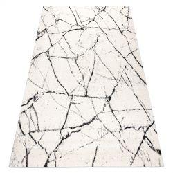 Koberec GNAB 60639563 Mramor moderní bílá / černý