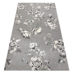 Koberec GNAB 60642653 Květiny růže šedá / bílá