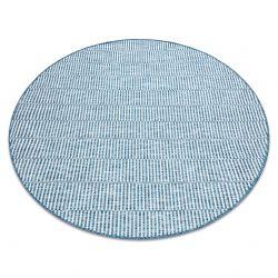 Koberec SISAL LOFT 21198 BOHO kruh slonová kost/stříbrný/modrý