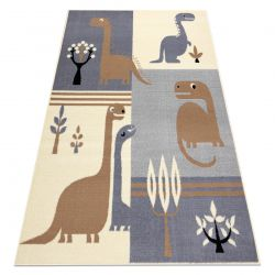 Koberec BCF FLASH Dinosaur 3994 - dinosaurus šedá