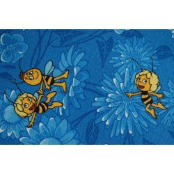 Koberec metráž MAYA Bee Bee modrý