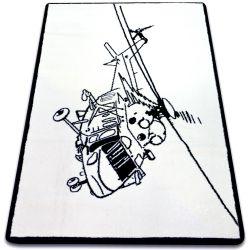 Koberec SKETCH - FA69 bílá/ černá - Vrtulník