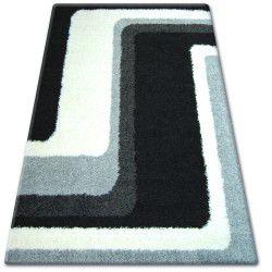 Koberec SHAGGY ZENA 2527 bílý / černý