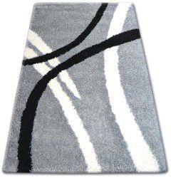Koberec SHAGGY ZENA 4600 šedá / bílý