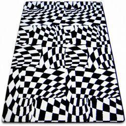 Koberec SKETCH - F756 bílá/ černá - kostkovaný