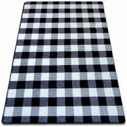 Koberec SKETCH - F759 bílá/ černá - kostkovaný