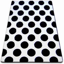 Koberec SKETCH - F761 bílá/ černá - kruh