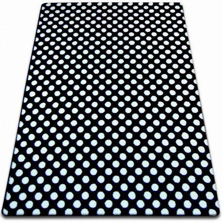 Koberec SKETCH - F764 černá / bílá - tečky