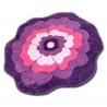 Koberec pro děti KRUH PRUMER HAPPY C273 FLOWER fialová