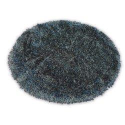 Koberec LOVE SHAGGY kruh model 93600 černý