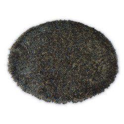 Koberec LOVE SHAGGY kruh model 93600 černý/hnedy