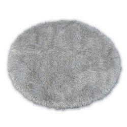 Koberec LOVE SHAGGY kruh model 93600 stříbro
