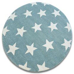Koberec SKETCH kruh - FA68 tyrkysový/krém - Hvězda