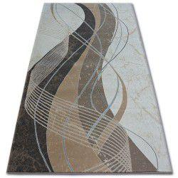 Koberec ARGENT - W4807 Llny Krém / Hnědý