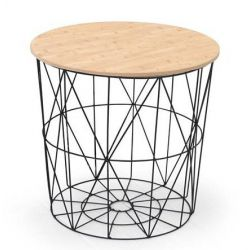 Konferenční stolek MARIFFA přírodní / černý