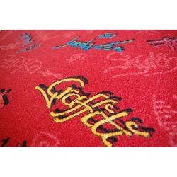 Koberec GRAFFITI červený