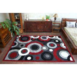Koberec CHENILLE 9386 černý/červený
