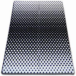 Koberec SKETCH - F762 bílá/ černá - tečky